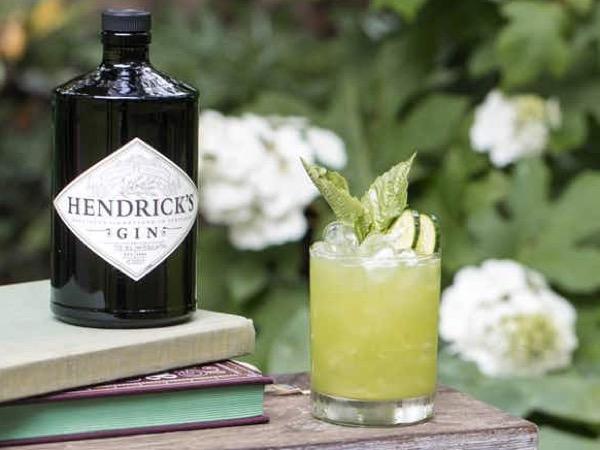Hendrick's Gin Cucumber Basil Smash