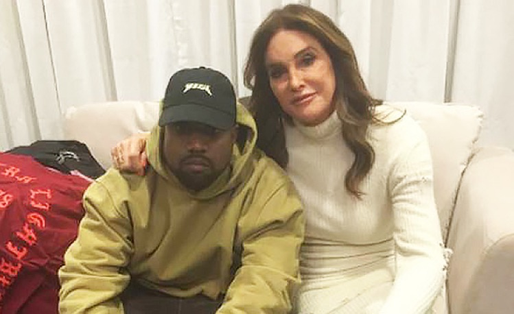 Kanye West and Caitlyn Jenner