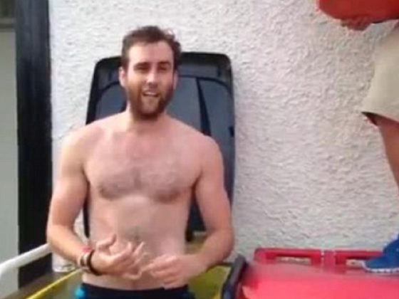 'Harry Potter' Star Matthew Lewis Takes The Ice Bucket Challenge Shirtless