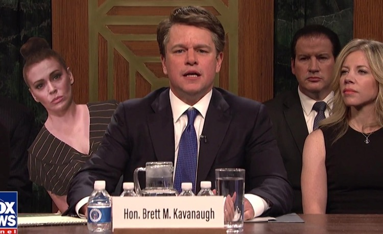 Matt Damon Debuts Angry Matt Kavanaugh