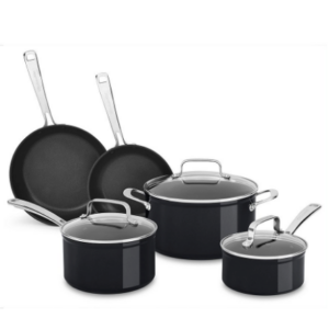 The KitchenAid Hard Anodized Non-Stick 8-Piece Set