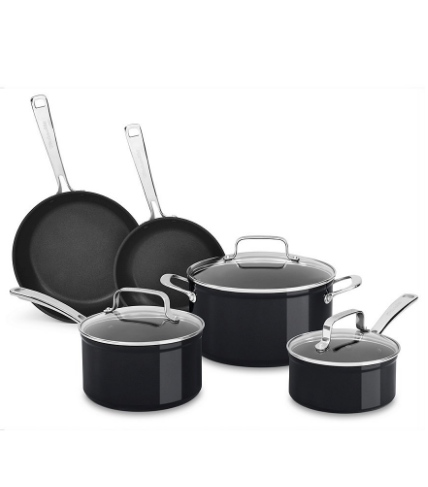 The KitchenAid Hard Anodized Non-Stick 8-Piece Set