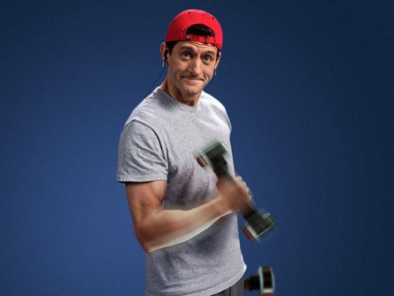 Paul Ryan lifting weights