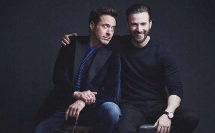 Robert Downey Jr Chris Evans