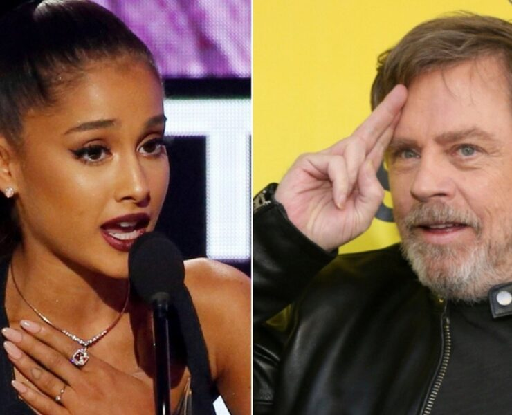 Ariana Grande and Mark Hamill