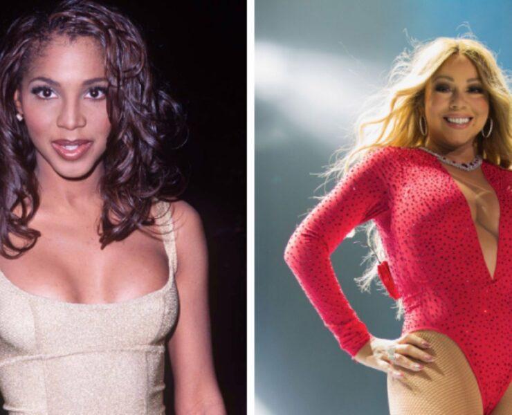 Toni Braxton and Mariah Carey