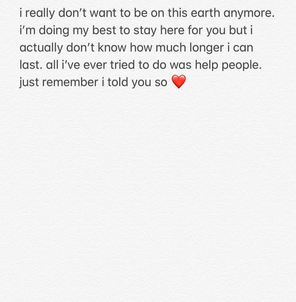 Pete Davidson Instagram message