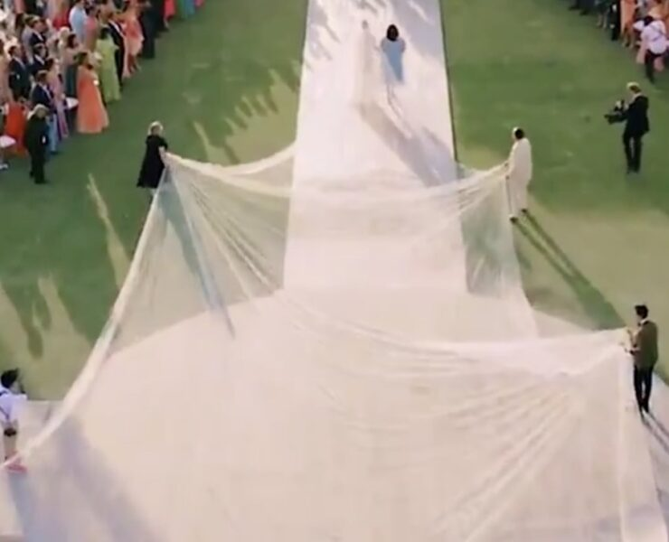Priyanka Chopra and Her 75-Foot Wedding Veil