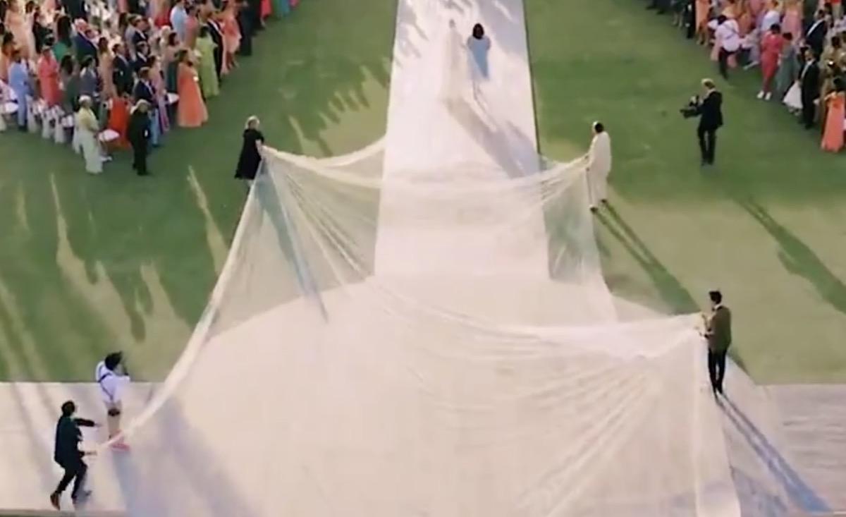 Priyanka Chopra and Her 75-Foot Wedding Veil