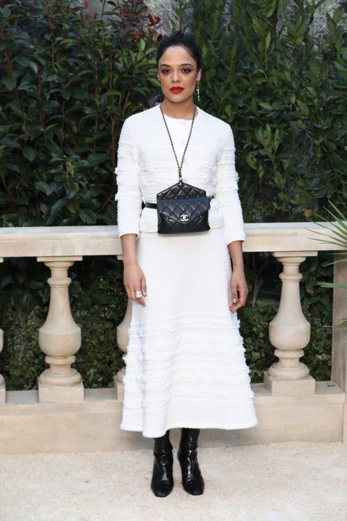 Tessa Thompson Chanel : Photocall - Paris Fashion Week - Haute Couture Spring Summer 2019