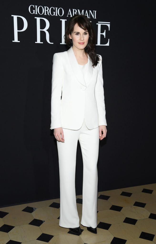 Michelle Dockery Giorgio Armani Prive : Front Row - Paris Fashion Week - Haute Couture Spring Summer 2019