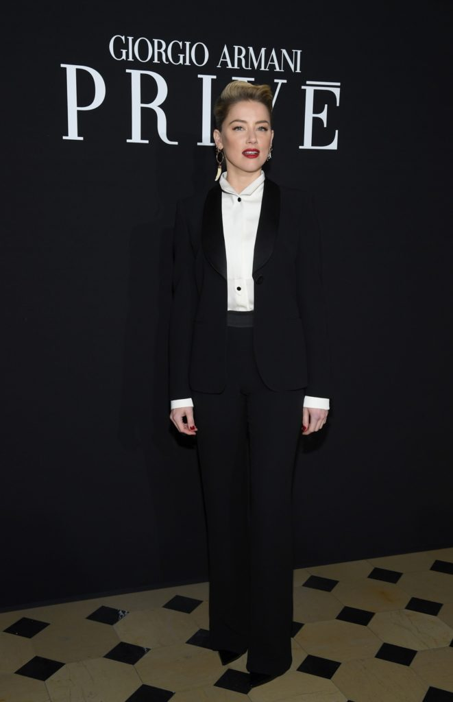 Amber Heard Giorgio Armani Prive : Front Row - Paris Fashion Week - Haute Couture Spring Summer 2019