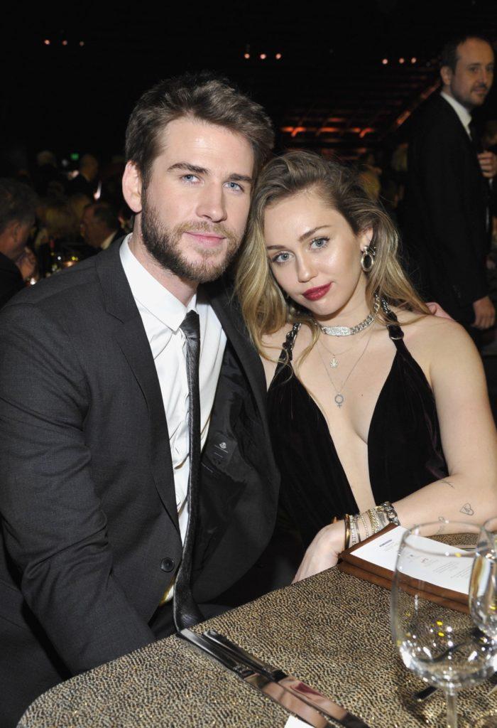 Liam Hemsworth and Miley Cyrus 2019 G'Day USA Gala