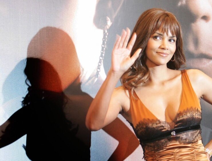 US actress Halle Berry poses during the