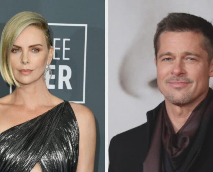 Charlize Theron and Brad Pitt