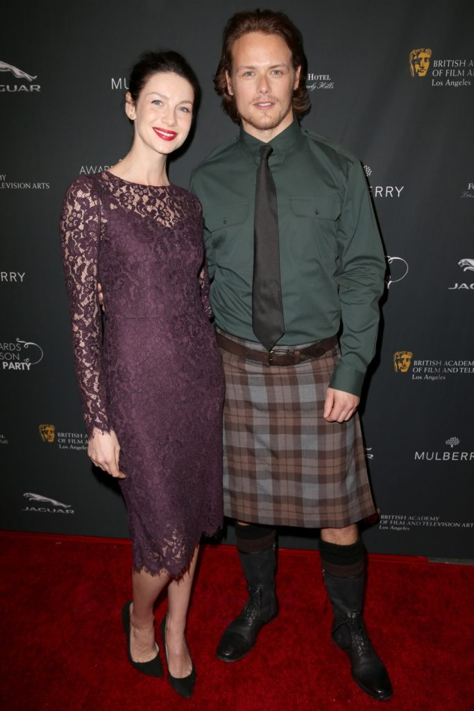 Caitriona Balfe and Sam Heughan BAFTA LA 2014 Awards Season Tea Party - Arrivals