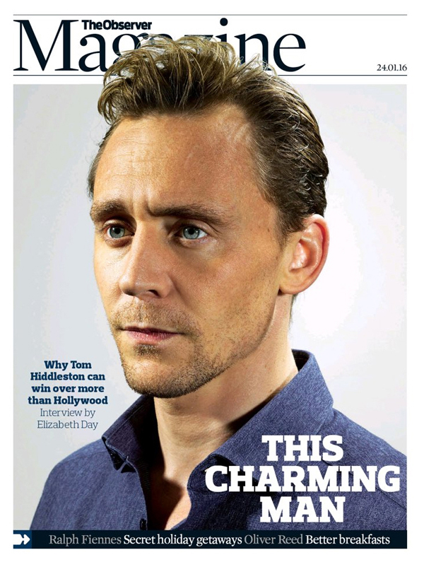 Tom Hiddleston The Observer