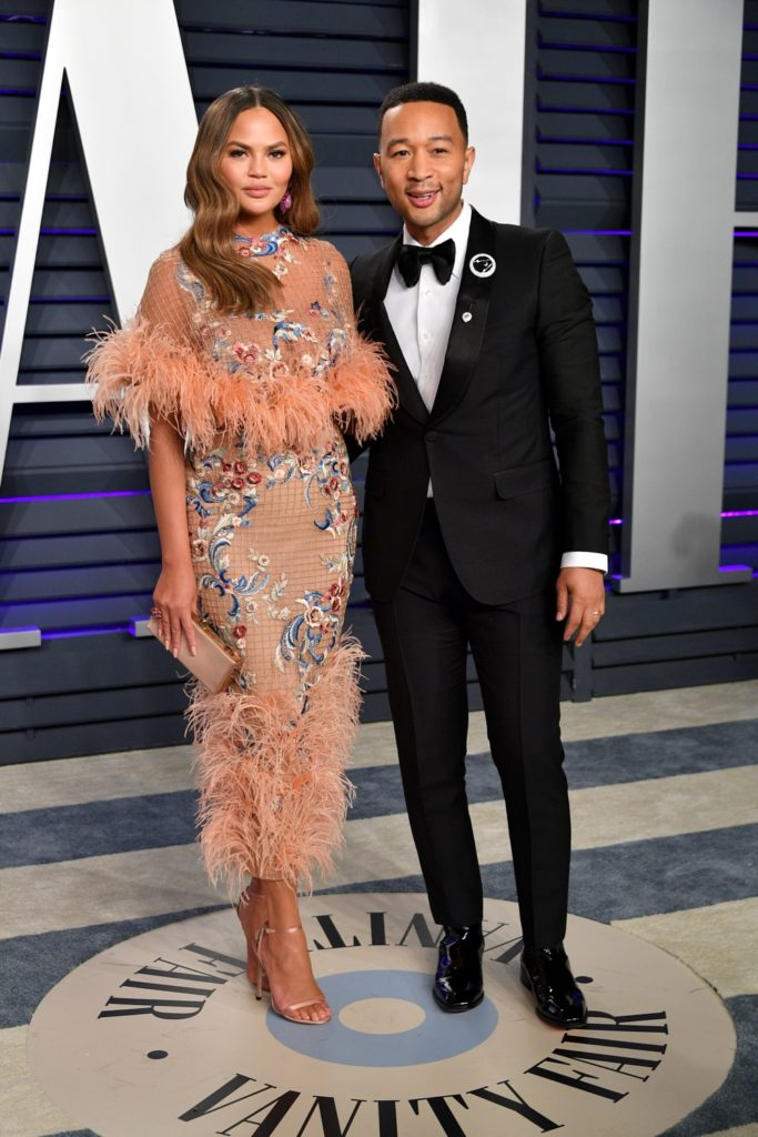 Chrissy Teigen and John Legend 2019 Vanity Fair Oscar Party Hosted By Radhika Jones - Arrivals