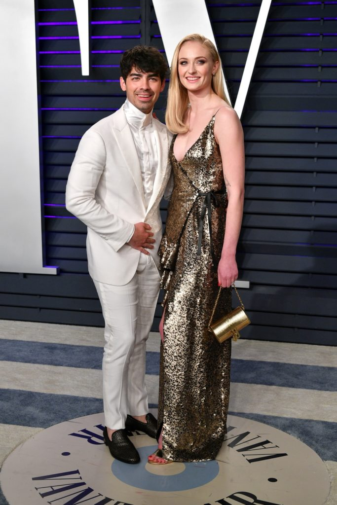 Sophie Turner and Joe Jonas 2019 Vanity Fair Oscar Party Hosted By Radhika Jones - Arrivals