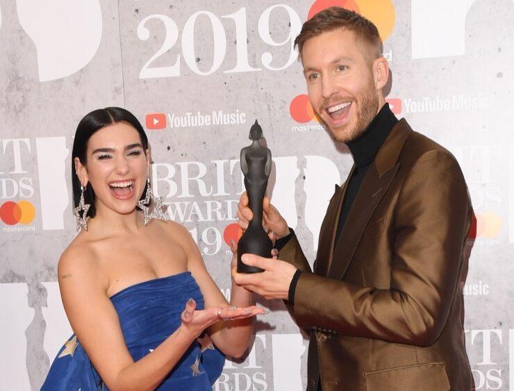 Dua Lipa and Calvin Harris The BRIT Awards 2019 - Winners Room