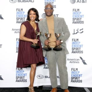 Regina King and Barry Jenkins 2019 Film Independent Spirit Awards - Press Room