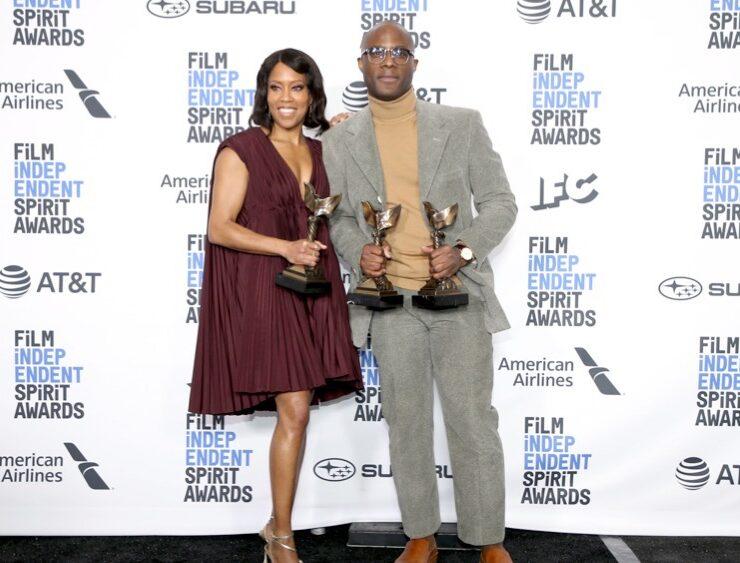 Regina King and Barry Jenkins 2019 Film Independent Spirit Awards - Press Room