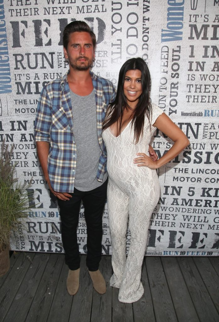 Kourtney Kardashian and Scott Disick Wildfox Swim Cruise 2014 - Front Row