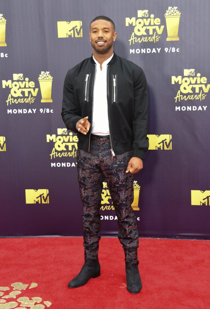 Michael B Jordan US-ENTERTAINMENT-MTV-MOVIE-TV-AWARDS