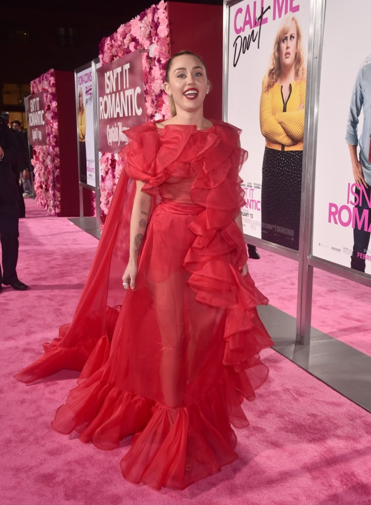 "Miley Cyrus Premiere Of Warner Bros. Pictures' ""Isn't It Romantic"" - Red Carpet"