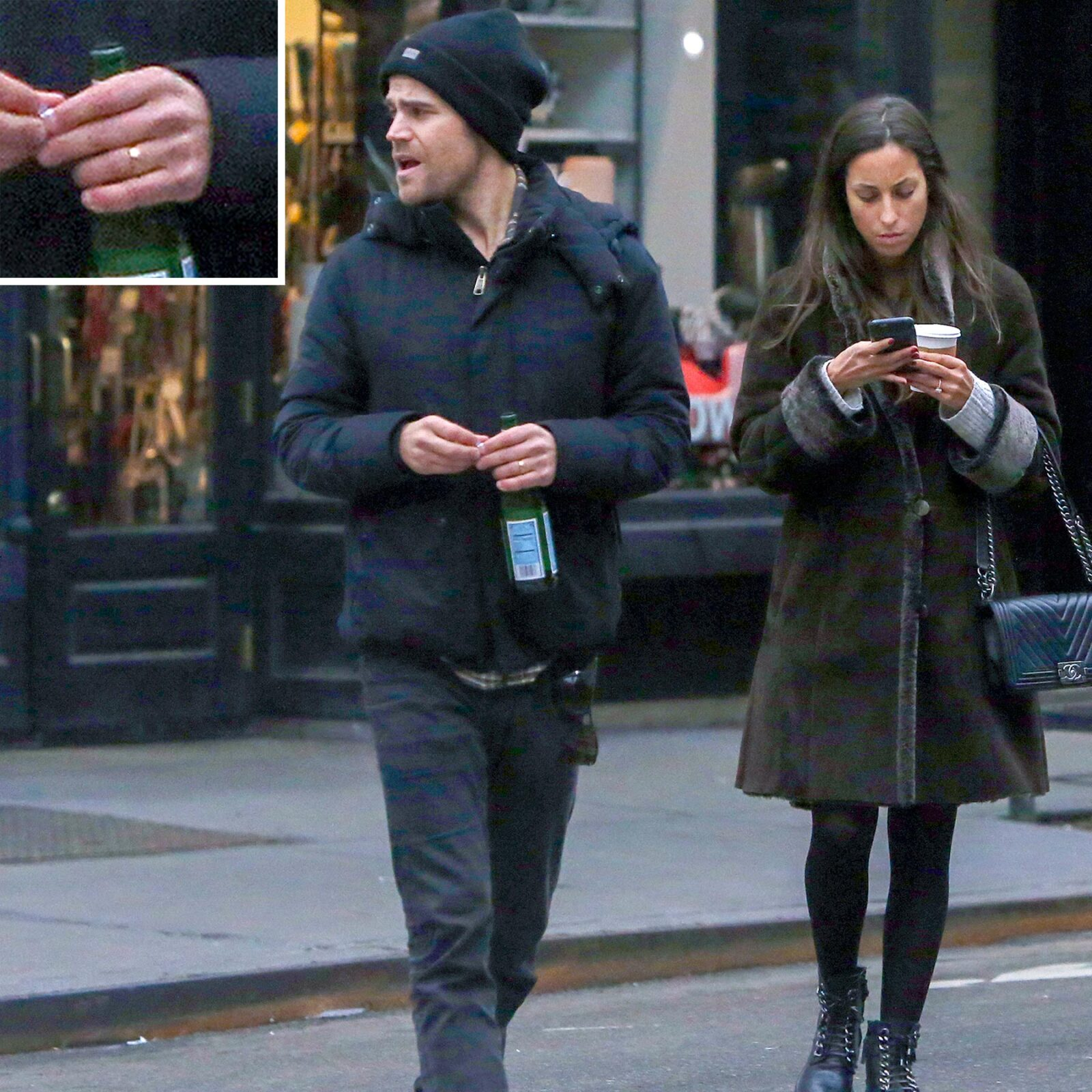 Secretly Married? Paul Wesley and Girlfriend of Several Months Step Out Wearing Matching Rings 1
