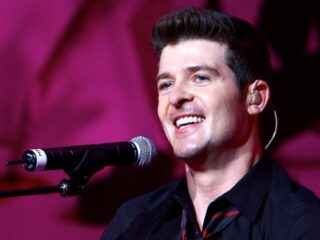 Robin Thicke Beyonce In Concert At Madison Square Garden