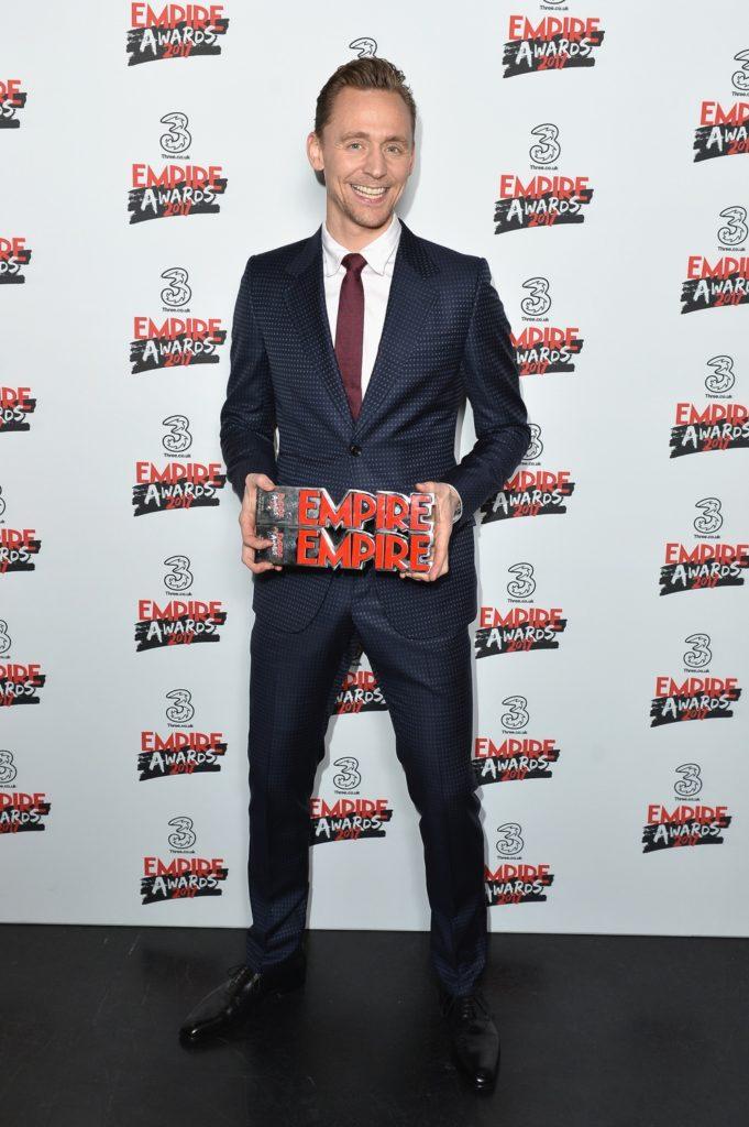 Tom Hiddleston Three Empire Awards - Winners Room