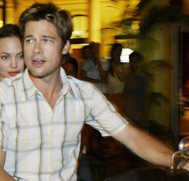 Hollywood stars Brad Pitt and his partne
