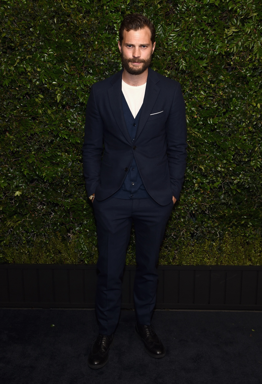 Jamie Dornan Charles Finch And Chanel Pre-Oscar Awards Dinner At Madeo In Beverly Hills