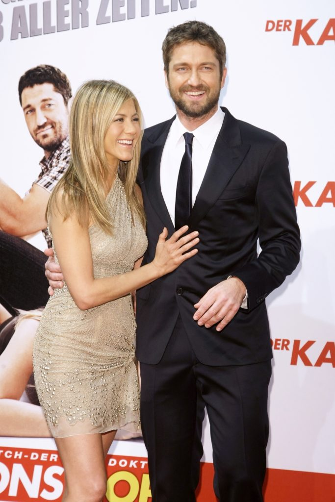 Jennifer Aniston and Gerard Butler The Bounty Hunter Germany Premiere