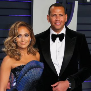 Jennifer Lopez and Alex Rodriguez US-OSCARS-VANITYFAIR-PARTY