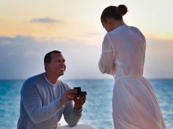 Jennifer Lopez and Alex Rodriguez proposal