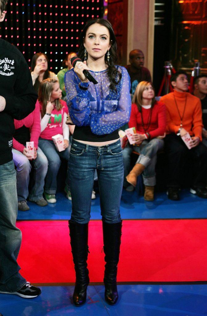 MTV TRL With Lindsay Lohan & Ashanti