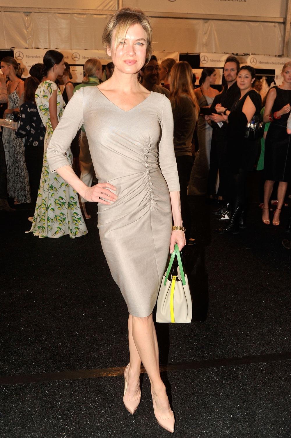 Renee Zellweger Carolina Herrera - Backstage - Spring 2012 Mercedes-Benz Fashion Week