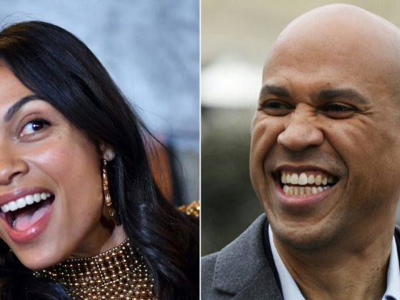 Rosario Dawson and Cory Booker