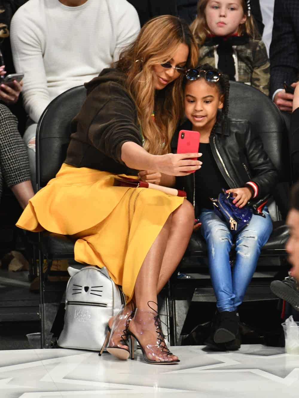 Beyonce Celebrities At The 67th NBA All-Star Game: Team LeBron Vs. Team Stephen