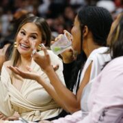 Chrissy Teigen Philadelphia 76ers v Miami Heat