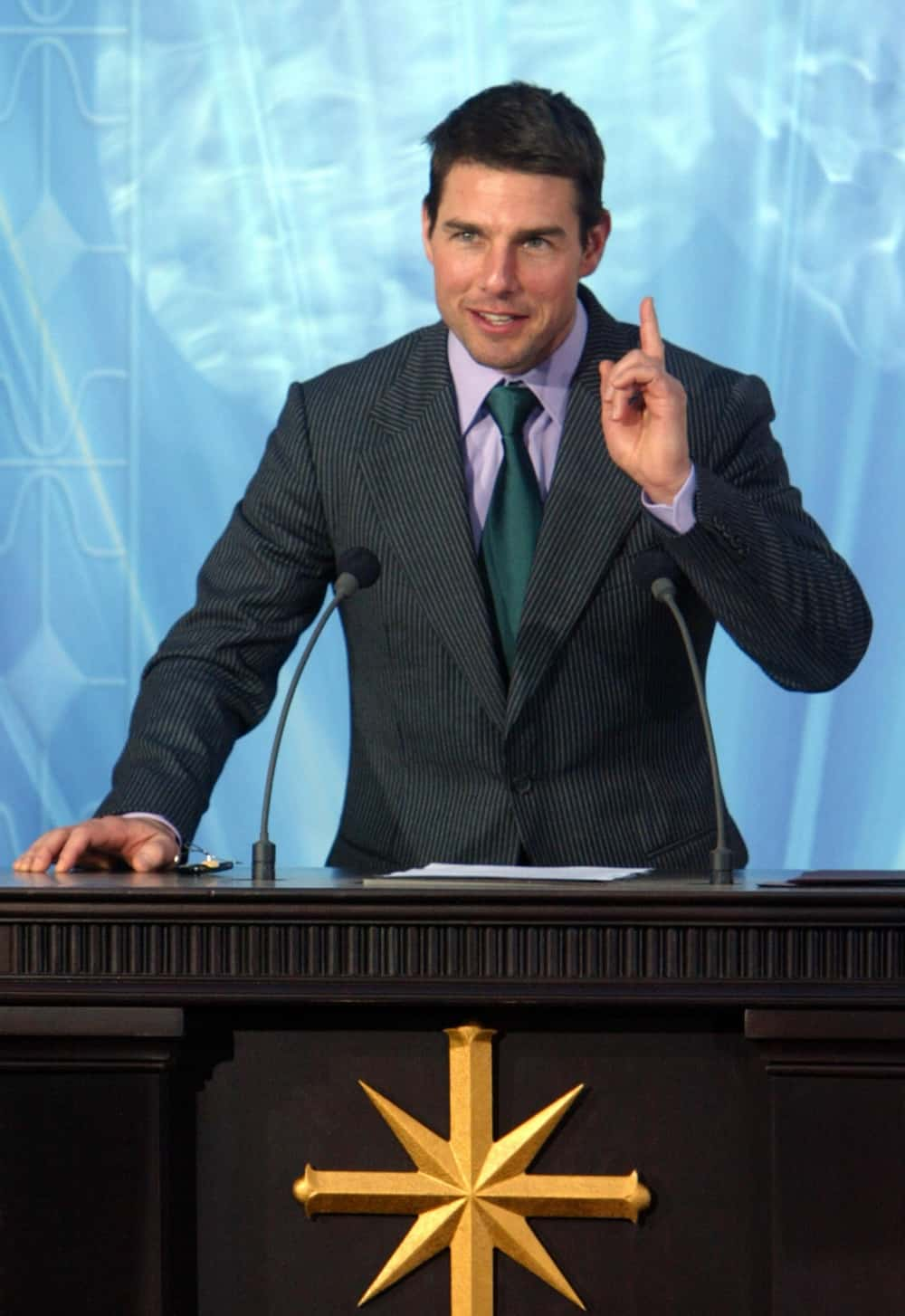 US actor, Tom Cruise speaks during the i
