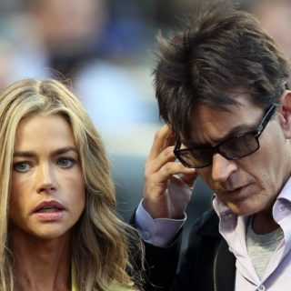 Denise Richards and Charlie Sheen New York Yankees v New York Mets
