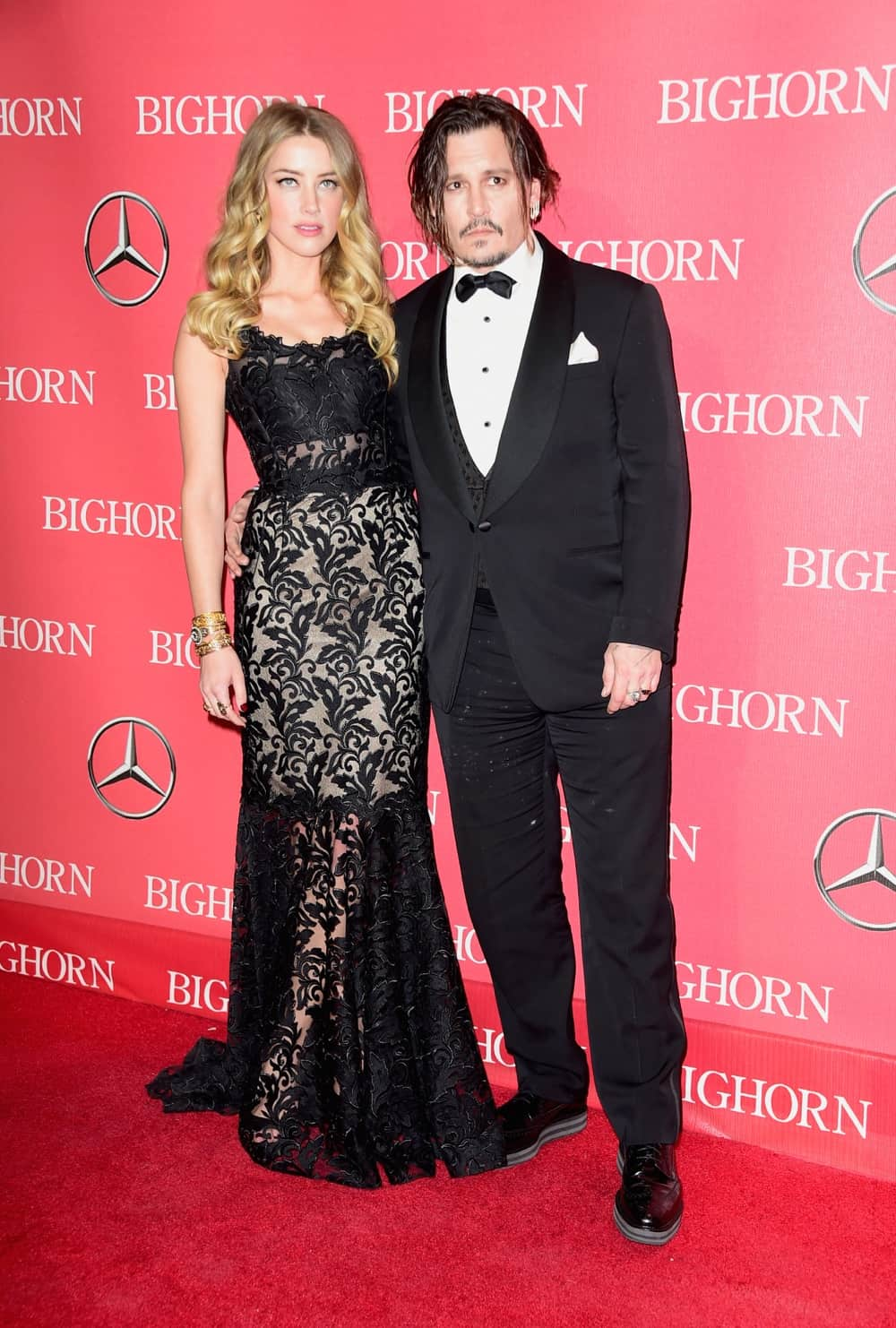 Amber Heard and Johnny Depp 27th Annual Palm Springs International Film Festival Awards Gala - Arrivals