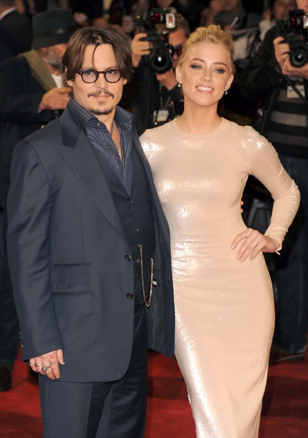 Amber Heard and Johnny Depp The Rum Diary - European Premiere