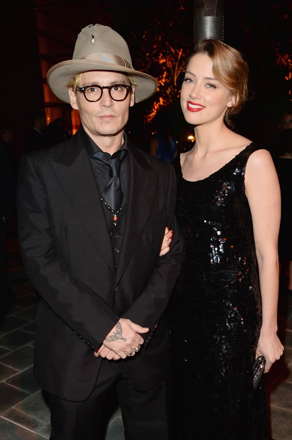 Amber Heard and Johnny Depp The Art of Elysium's 7th Annual HEAVEN Gala Presented by Mercedes-Benz - Inside
