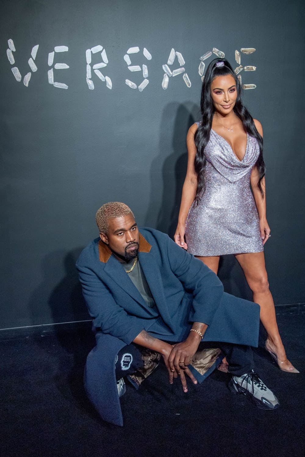 Kanye West and Kim Kardashian West Versace Fall 2019 - Arrivals