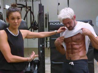 Zac Efron and Nina Dobrev Work Out