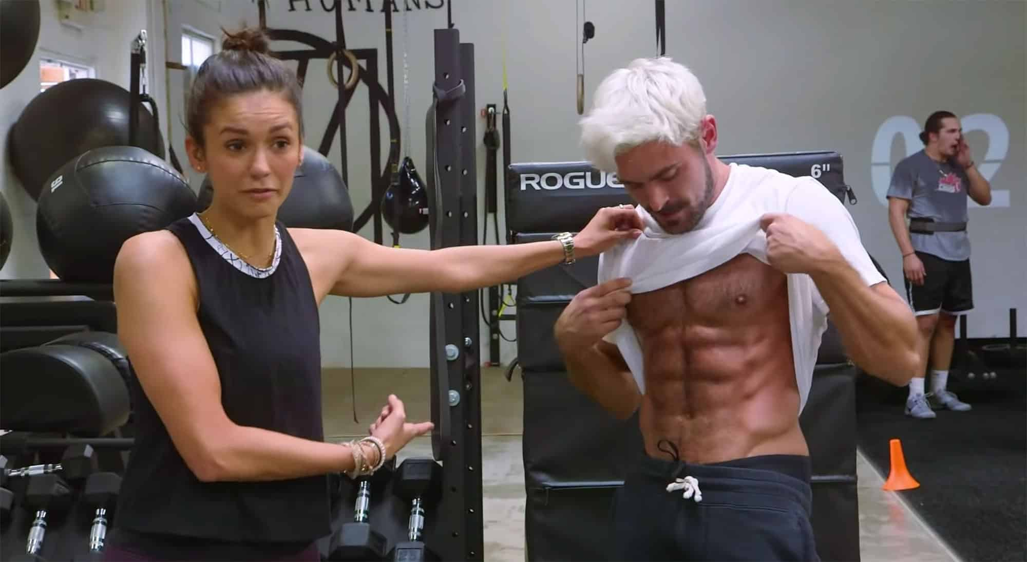 Zac Efron and Nina Dobrev Work Out